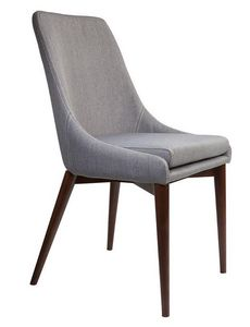 WHITE LABEL - chaise juju de dutchbone tissu gris coutures selli - Chaise