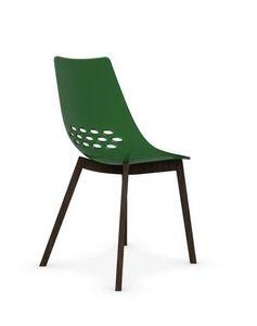 Calligaris - chaise jam w de calligaris verte transparente piét - Chaise
