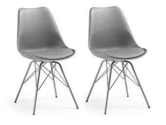 MyCreationDesign - gala gris - lot de 2 - Chaise