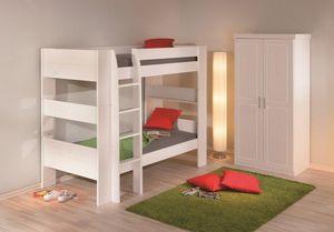 WHITE LABEL - lit superposé dream well 3 en pin massif couchage  - Lits Superposés