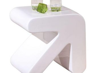 WHITE LABEL - table d'appoint design erati blanche - Table D'appoint