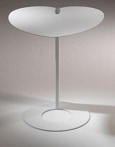 WHITE LABEL - bout de canapé coeur design blanc. - Bout De Canapé
