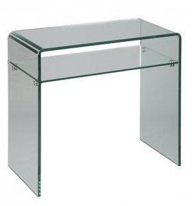 WHITE LABEL - console en verre cristal compact - Console