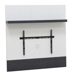 WHITE LABEL - etagère + support tv coloris bois et blanc - Etagère