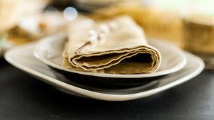 Couleur Chanvre - couleur curry - Serviette De Table