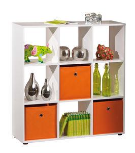WHITE LABEL - meuble de séparation design carré coloris blanc - Etagère