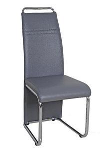 COMFORIUM - chaise simili cuir gris moderne - Chaise
