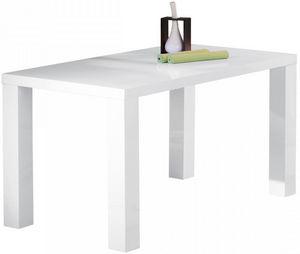 COMFORIUM - table de cuisine rectangulaire blanc laqué - Table De Repas Rectangulaire
