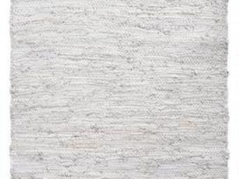 Aubry-Gaspard - tapis en cuir et coton gris - Tapis Contemporain