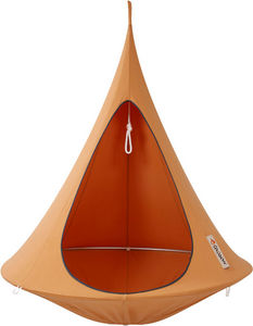 CACOON - nid de jardin suspendu cacoon orange mangue 150x15 - Hamac Chaise