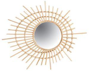 Aubry-Gaspard - miroir spirale en rotin - Miroir