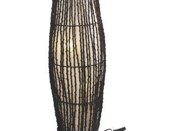 Aubry-Gaspard - lampe en coco et coton - Lampe À Poser