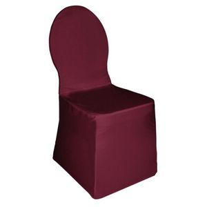 COMFORIUM - housse de chaise de banquet coloris bordeaux - Housse De Chaise