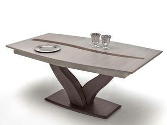 Ateliers De Langres - table tonneau pied central oceane - Table De Repas Rectangulaire