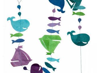 Lamali - guirlande déco colorée voyage en mer turquoise - Guirlande Enfant