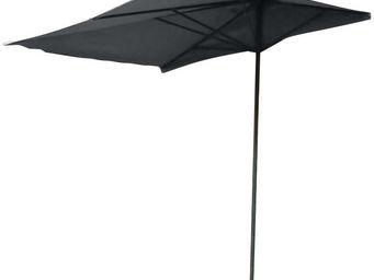 Ideanature - parasol balcon noir pied en t - Parasol
