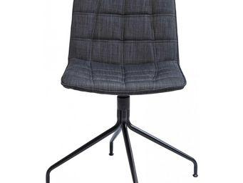 Kare Design - chaise pivotante city spirit grise - Chaise Pivotante
