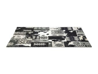 Kare Design - tapis design square mix it noir 170x240 - Tapis Contemporain