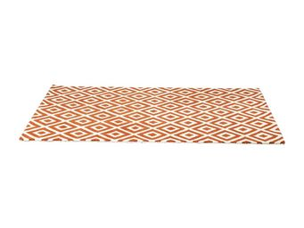 Kare Design - tapis design rhomb orange 170x240cm - Tapis Contemporain