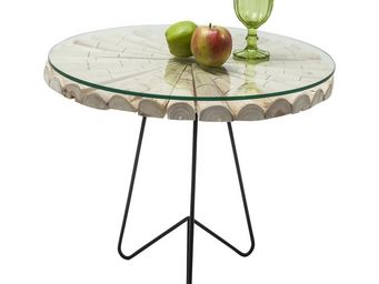 Kare Design - table d appoint flint stone nature 60 cm - Table D'appoint