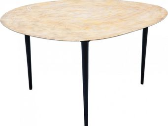 Kare Design - table de salon egg gold 66x74cm - Table Basse Forme Originale