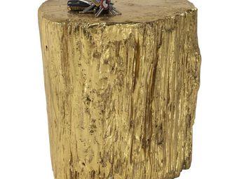Kare Design - tabouret tronco doré 40cm - Tabouret