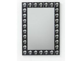 Kare Design - miroir skull rockstar by geiss 100x70cm - Miroir