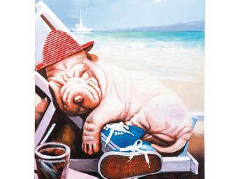 Kare Design - tableau lazy dog 60x90cm - Tableau Décoratif