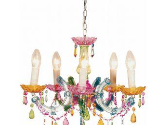 Kare Design - lustre barock multicolore 5 bras - Lustre