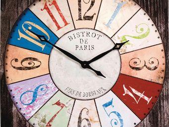 Kare Design - horloge bistro 80x80cm - Horloge Murale