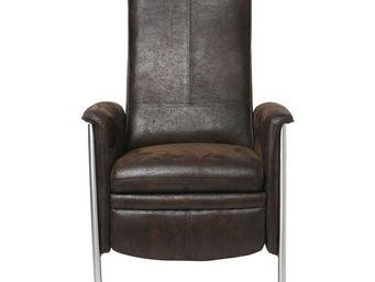 Kare Design - fauteuil relax lazy marron - Fauteuil