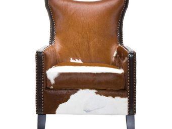Kare Design - fauteuil à oreilles denver cow - Fauteuil
