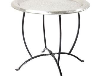 Kare Design - table d appoint oasis argentée 45 cm - Table D'appoint