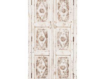Kare Design - armoire taberna blanche 2 portes - Armoire À Portes Battantes