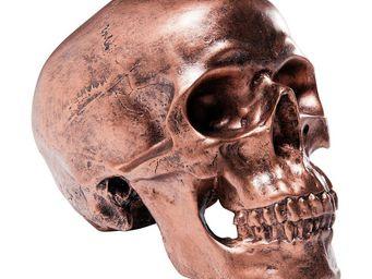 Kare Design - tirelire skull antique cuivrée - Statuette
