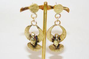 SZENDY GRINHILDA - colombe - Boucles D'oreilles