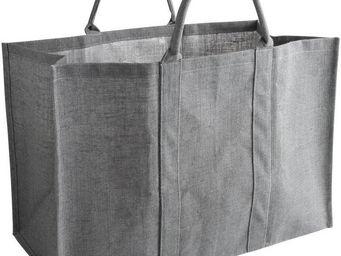 Aubry-Gaspard - sac à bûches en jute gris - Sac À Buches