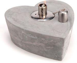 Amadeus - lampe à huile coeur en ciment - Lanterne D'extérieur