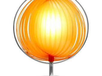 KOKOON DESIGN - lampe design bowl orange avec abat-jour modulable  - Lampe À Poser