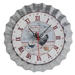 Aubry-Gaspard - horloge de cuisine oeufs frais 25.5cm - Horloge Murale