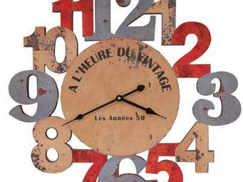 Antic Line Creations - pendule murale a l'heure du vintage - Horloge Murale
