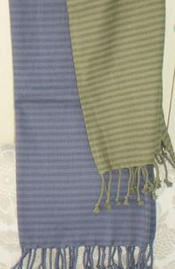 ITI  - Indian Textile Innovation - stripe design - Jeté De Lit