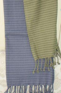 ITI  - Indian Textile Innovation - stripe design - Jeté De Lit