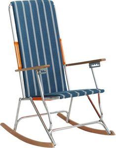 HEVEA - fauteuil bascule acier et bois lido - Fauteuil De Jardin