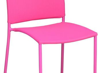 PROLOISIRS - chaise de jardin design bonbon (lot de 6) frambois - Fauteuil De Jardin