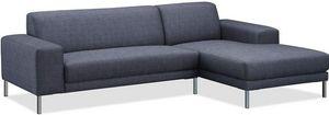 Delorm design - canapé d'angle eliott grey - Canapé Modulable