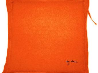 PROLOISIRS - coussin extérieur galette 40cm orange - Galette De Chaise