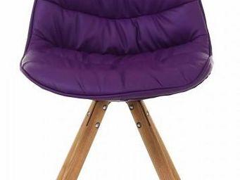 ID'CLIK - chaise repas design lotus (lot de 2) violet - Chaise