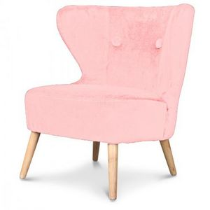 Demeure et Jardin - fauteuil crapaud design scandinave rose dragée kok - Fauteuil