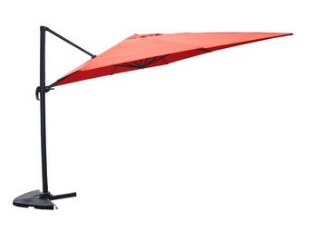 TOUSMESMEUBLES - parasol rotatif terracotta 3*3 m - terrine - l 300 - Parasol Excentr�
